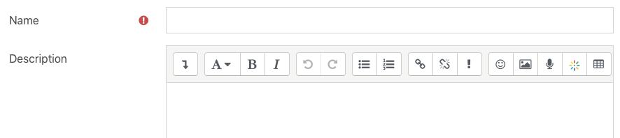 Feedback activity add name