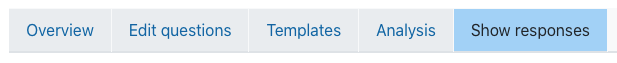 Show responses tab