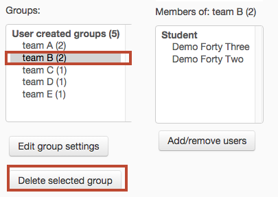 select group then press delete