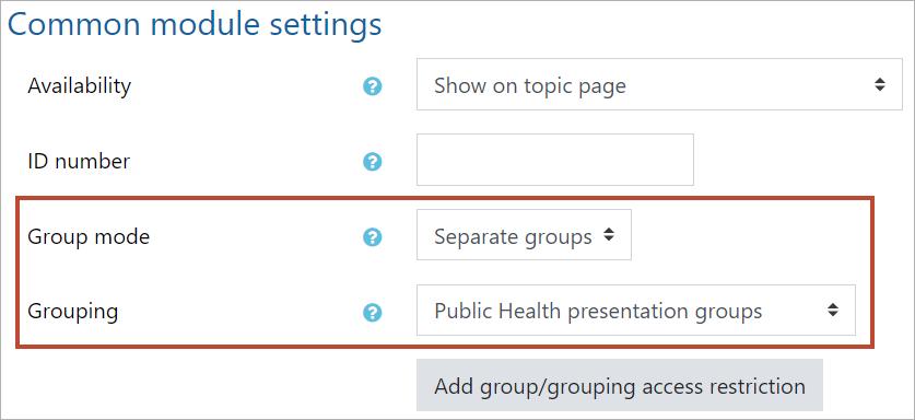 Common module settings