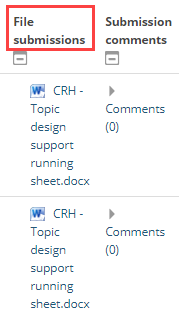 file submission column