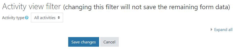 dates activity filter