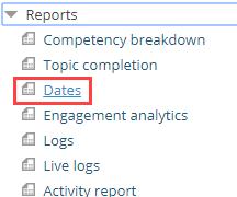 dates report