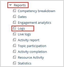 logs report