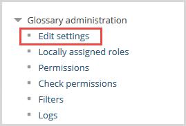glossary edit