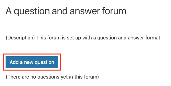 Add a new question
