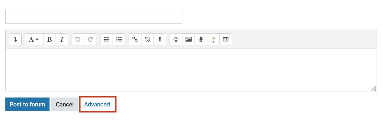 edit a forum post