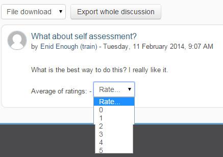 ratings - forum post
