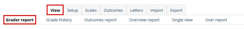 grader report tab