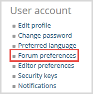 forum preferences