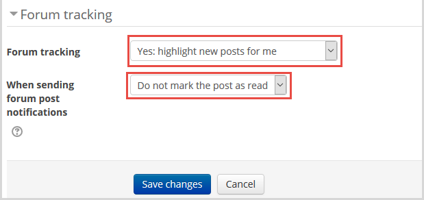 profile forum preferences