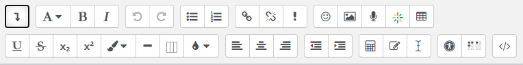 HTML editor expanded
