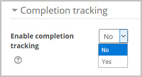 completion tracking