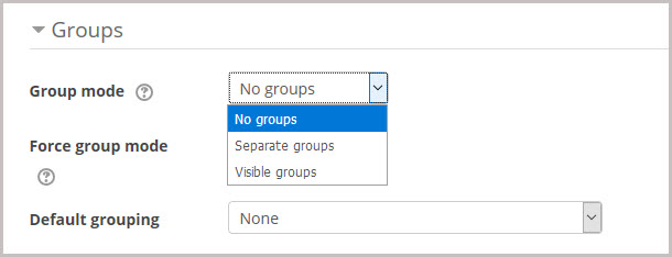 group mode settings