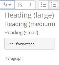 paragraph styles menu