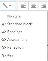 Styles options
