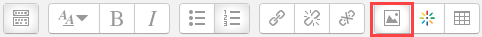 image icon in toolbar