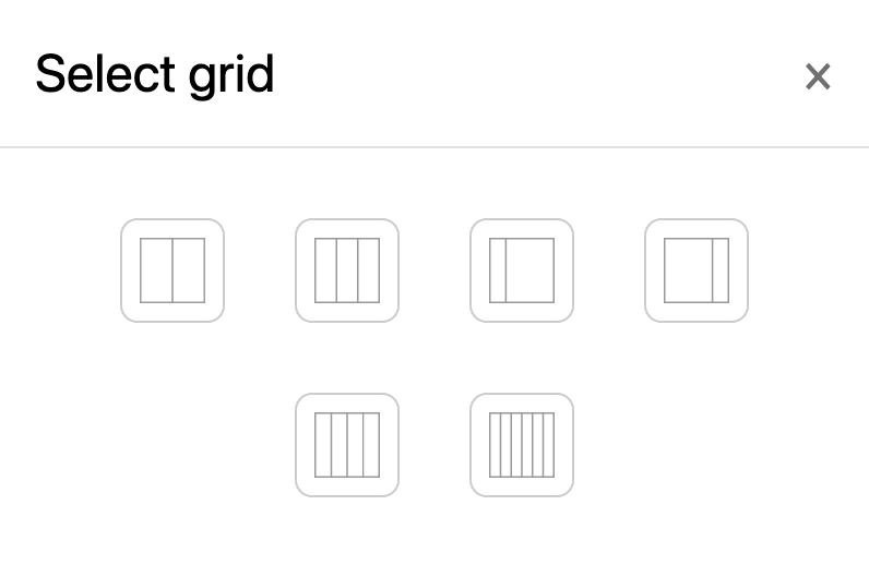 grid options