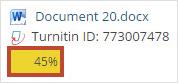 Turnitin percentage