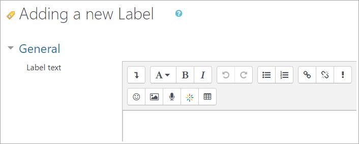 label text