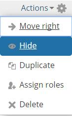 hide activity