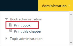 Book administration > Print book
