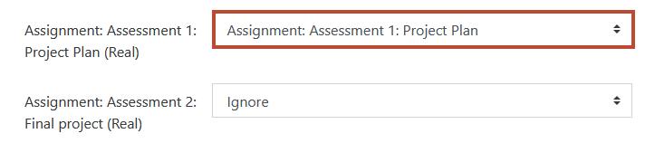 map assignment 1 column in spreadsheet to assignment 1 column in gradebook