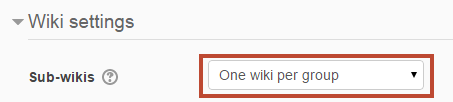 one wiki per group