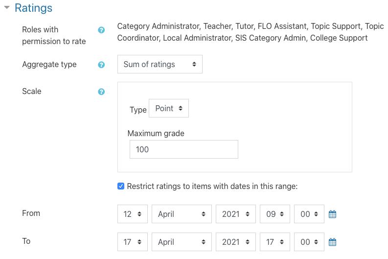 database ratings