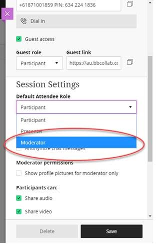 Moderator for student