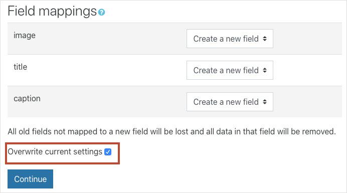 Field mappings