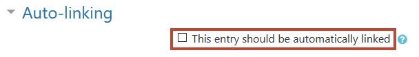 The Auto-linking section contains one setting