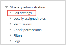 glossary administration