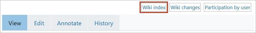 wiki index