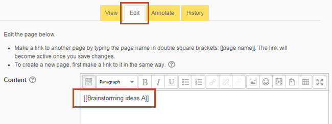 type link in double square brackets