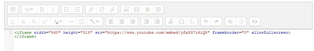 Pasting the embed code