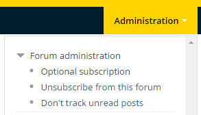 subscribe to forum